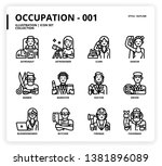 occupation icon set for web... | Shutterstock .eps vector #1381896089