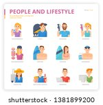 people and lifestyle icon set... | Shutterstock .eps vector #1381899200