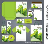 stationery design set in vector ... | Shutterstock .eps vector #138190643