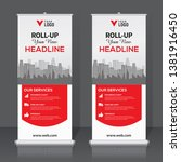 roll up banner design template  ... | Shutterstock .eps vector #1381916450