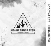 mountain broad peak logo.... | Shutterstock .eps vector #1381917209