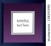 blue photo frame | Shutterstock .eps vector #138191990