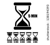 vector sand glass timer | Shutterstock .eps vector #138194393