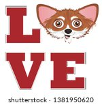 snout of chihuhua and letters   Shutterstock . vector #1381950620