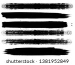grunge paint roller . vector... | Shutterstock .eps vector #1381952849