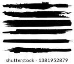 grunge paint roller . vector... | Shutterstock .eps vector #1381952879
