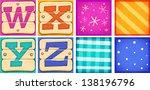 cute cartoon letters | Shutterstock .eps vector #138196796