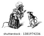 two mice dressed up like mother ... | Shutterstock .eps vector #1381974236