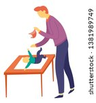 child care and fatherhood... | Shutterstock .eps vector #1381989749