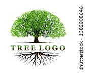tree logo templates with... | Shutterstock .eps vector #1382008646
