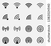 set of data transfer concept... | Shutterstock . vector #1382024540