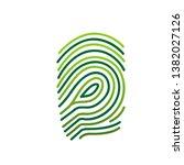 green simple finger print logo | Shutterstock .eps vector #1382027126
