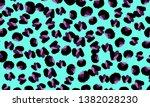 leopard print. animal skin... | Shutterstock .eps vector #1382028230