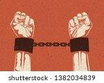 Man Hands In Strained Steel...