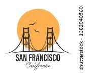 san francisco famous bridge.... | Shutterstock .eps vector #1382040560