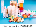 medications tablets and... | Shutterstock . vector #138204188