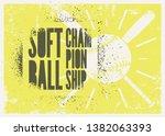 softball championship... | Shutterstock .eps vector #1382063393