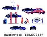 set of vector illustrations of... | Shutterstock .eps vector #1382073659