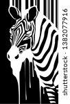 animal zebra texture seamless... | Shutterstock .eps vector #1382077916