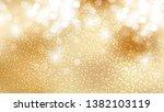gold bokeh defocused lights...   Shutterstock .eps vector #1382103119