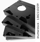 four old vhs cassettes with...   Shutterstock . vector #1382110259