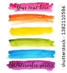 set watercolor stain. spots on... | Shutterstock .eps vector #1382110586