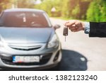 hand of business man gives the... | Shutterstock . vector #1382123240