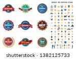vintage retro vector logo for... | Shutterstock .eps vector #1382125733