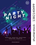night dance party music night... | Shutterstock .eps vector #1382140499