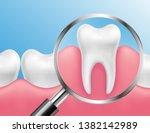 vector realistic healthy teeth... | Shutterstock .eps vector #1382142989