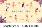 love your body best positive... | Shutterstock .eps vector #1382148506