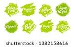 organic food hand lettering... | Shutterstock .eps vector #1382158616