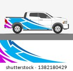 pick up truck and car decal...   Shutterstock .eps vector #1382180429