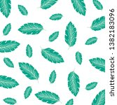 leaves background texture with... | Shutterstock .eps vector #1382183096