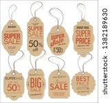 paper price tag retro vintage... | Shutterstock .eps vector #1382189630
