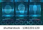biometric identification...   Shutterstock . vector #1382201120