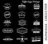 coffee logo vintage new idea | Shutterstock .eps vector #1382217059