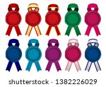 sealing wax  stamp   ribbon... | Shutterstock .eps vector #1382226029
