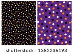 set of 2 abstract seamless... | Shutterstock .eps vector #1382236193