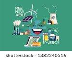 cool flat vector illustration... | Shutterstock .eps vector #1382240516