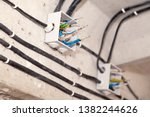 cable laying ceiling.... | Shutterstock . vector #1382244626