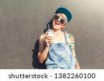 young alternative girl wearing... | Shutterstock . vector #1382260100