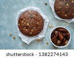 homemade date walnut bread  ... | Shutterstock . vector #1382274143