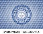 diamond icon inside blue... | Shutterstock .eps vector #1382302916