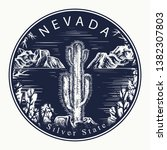 nevada. tattoo and t shirt... | Shutterstock .eps vector #1382307803