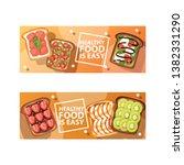 toast vector sandwich healthy... | Shutterstock .eps vector #1382331290