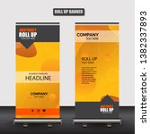 roll up business brochure flyer ... | Shutterstock .eps vector #1382337893