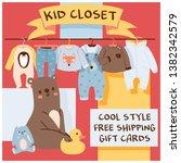 baby shop vector cartoon kids... | Shutterstock .eps vector #1382342579