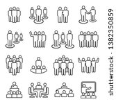 business team line icon set... | Shutterstock .eps vector #1382350859