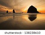 Haystack Rock At Sunset  Canno...